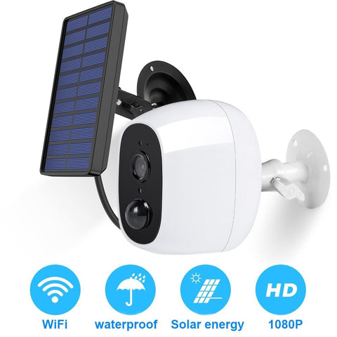 1080P Outdoor Solar Wifi Rechargeable IP Camera With PIR Motion Sensor