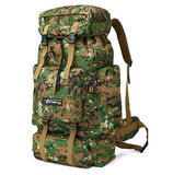 70L Large Waterproof Multi-function Army Style Backpack