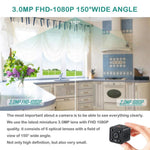 3.0 MP 1080P HD Mini Wireless Surveillance Camera with Night Vision (Motion & Noise Activation)