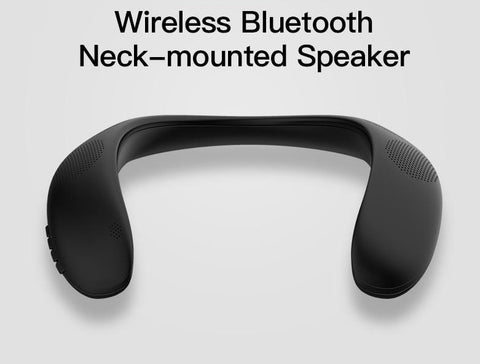 Bluetooth Neck Mounted Speaker With Bass FM Radio SD Card Slot With Microphone