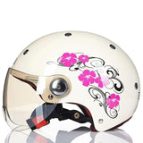 Vintage Style Half Face Cycle Helmet With Visor