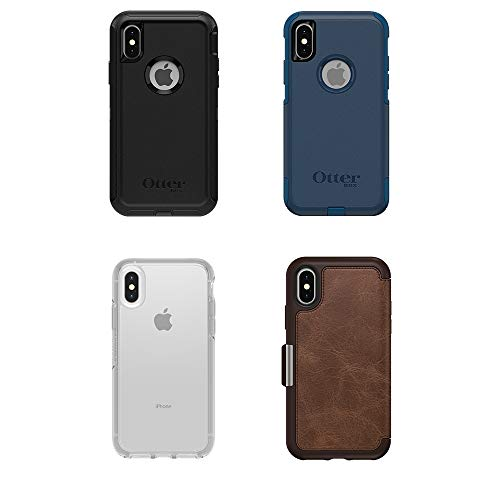 promo code f8b7b 4974d OtterBox SYMMETRY CLEAR SERIES Case for iPhone Xs & iPhone X - Retail  Packaging - STARDUST (SILVER FLAKE/CLEAR)