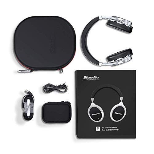 837dccb9317 ... Bluetooth Headphones Active Noise Cancelling, Bluedio F2 ANC Over Ear Wireless  Headphones 180° Rotation
