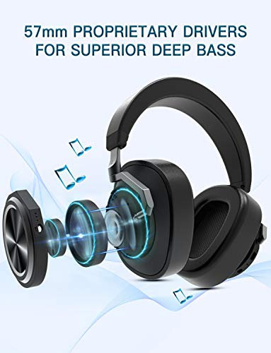 0c5625b61ef ... Bluedio T6 (Turbine) Bluetooth Headphones Over Ear Active Noise  Canceling ANC Headphones with mic ...