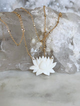 Lila Lotus Necklace