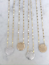 Beveled Coin Necklace
