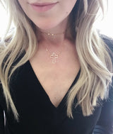 Floating Open Cross Necklace