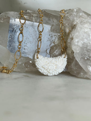 Kate Floral Crescent Necklace