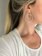 Geometric Leaf Hoops