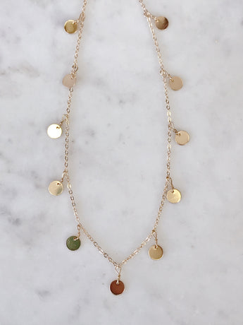 Sparkle Coin Necklace