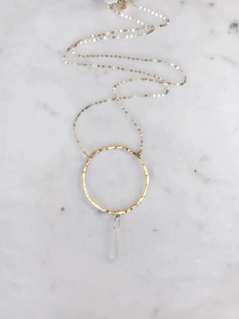 Mia Quartz Circle Necklace