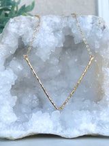 Geometric V Necklace (Sparkle)