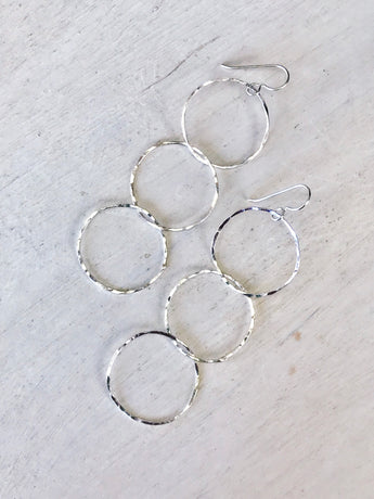 Triple-Link Hoop Earrings