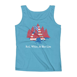 Red, White, & Blue Line Ladies' Tank