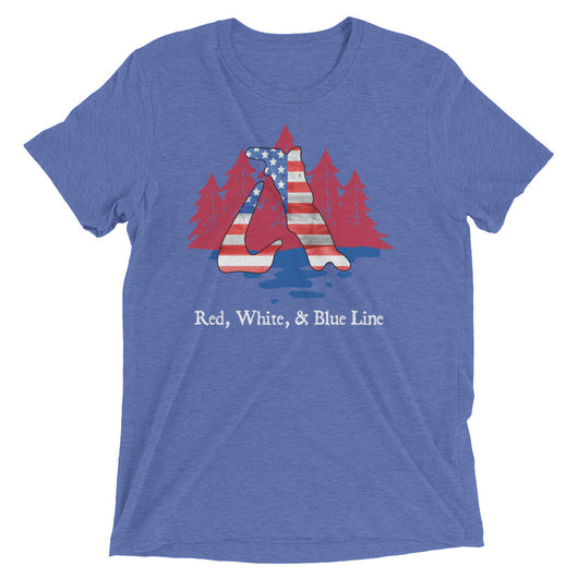 Red, White, & Blue Line - Triblend Tech Tee