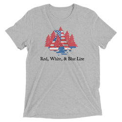 Red, White, & Blue Line - Two Side Triblend Tech Tee