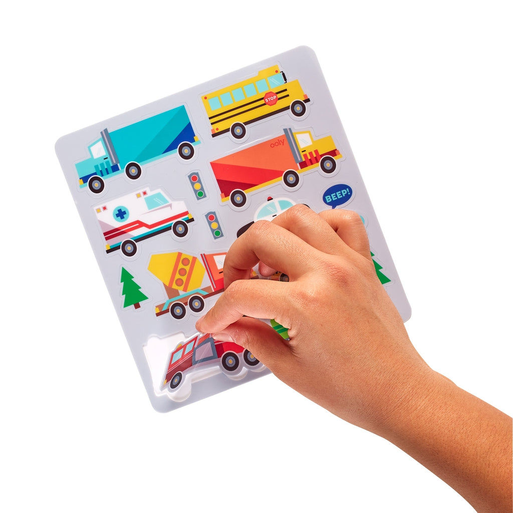 Play Again! Mini On-The-Go Activity Kit - Working Wheels By Ooly
