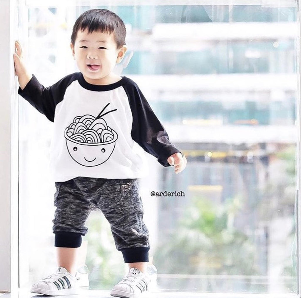 Happy Soba Baby + Kids Baseball T
