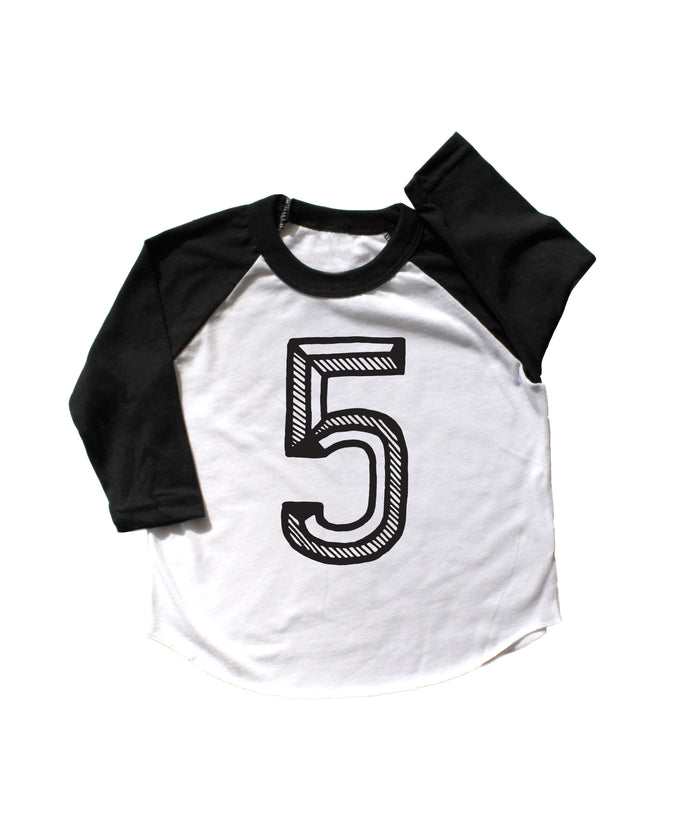 Number Five Baseball Tee