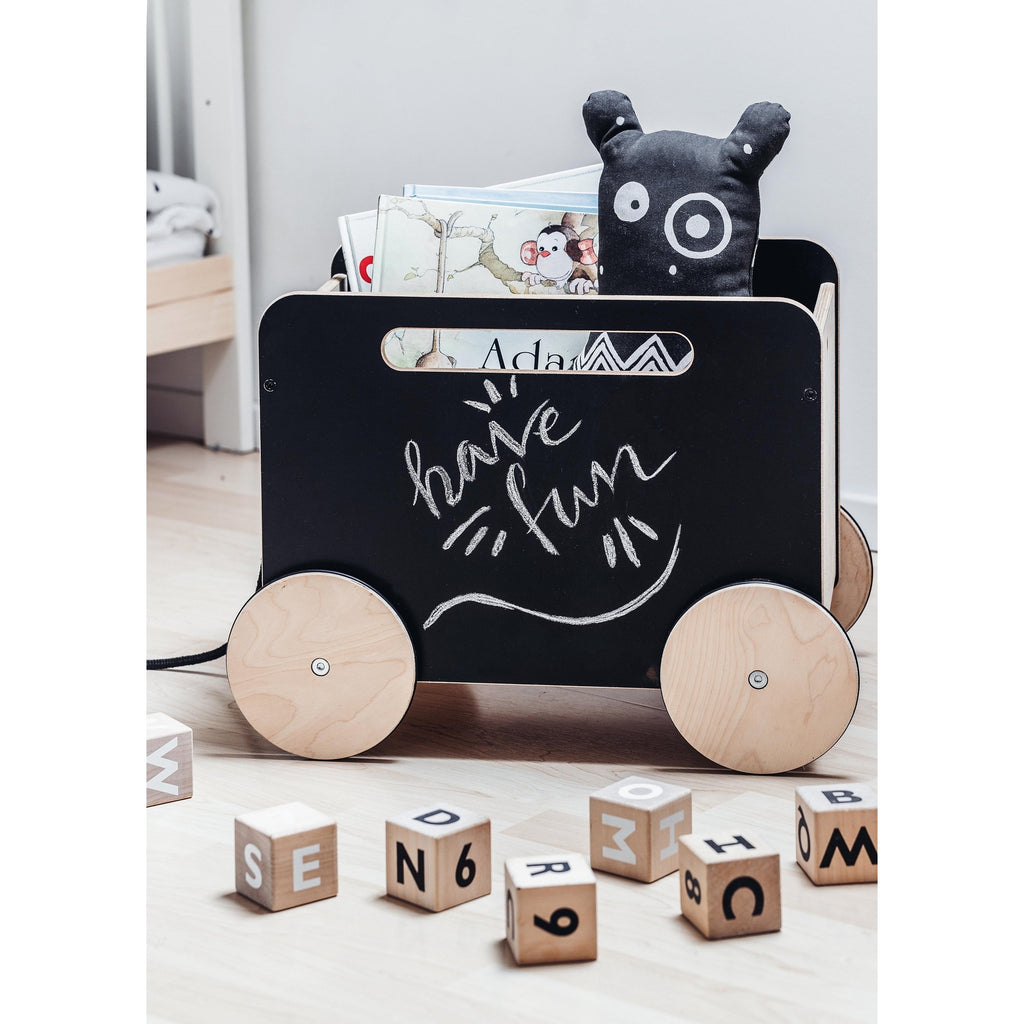 Blackboard Toy Chest on Wheels by Ooh Noo