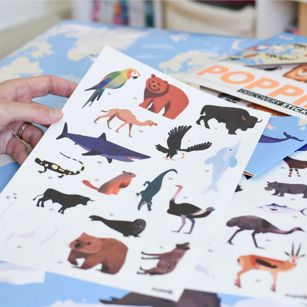 Animals of the World Discovery Sticker Posters