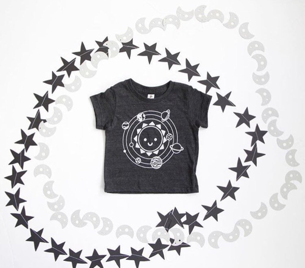 Kawaii Solar System Baby + Kid's Shirt