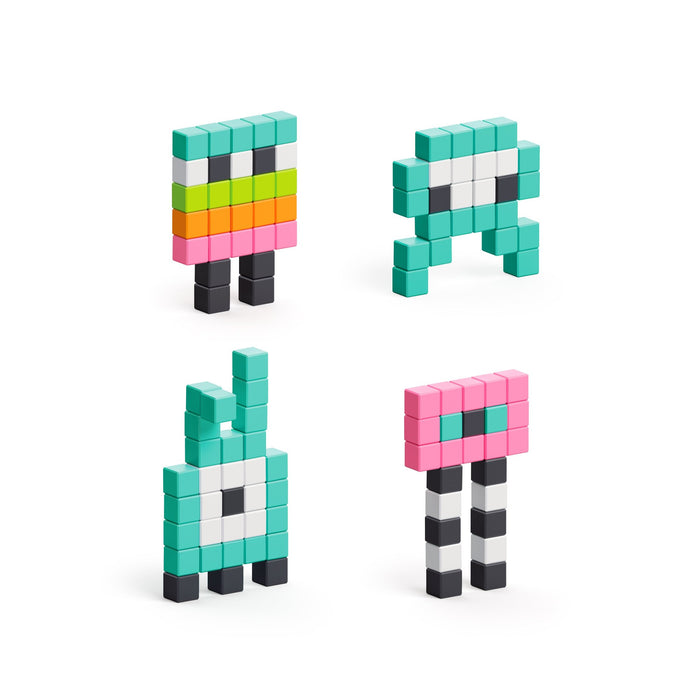 Mini Monsters - 100 Magnetic Blocks by Pixio