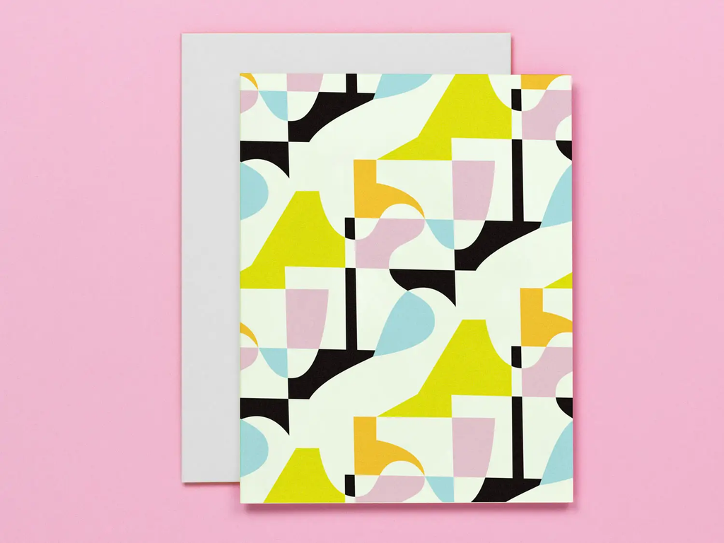 Day Tripper Abstract Pattern Card