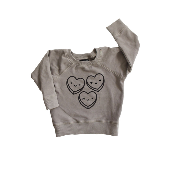 Kawaii Candy Hearts Baby + Kids Sweatshirt