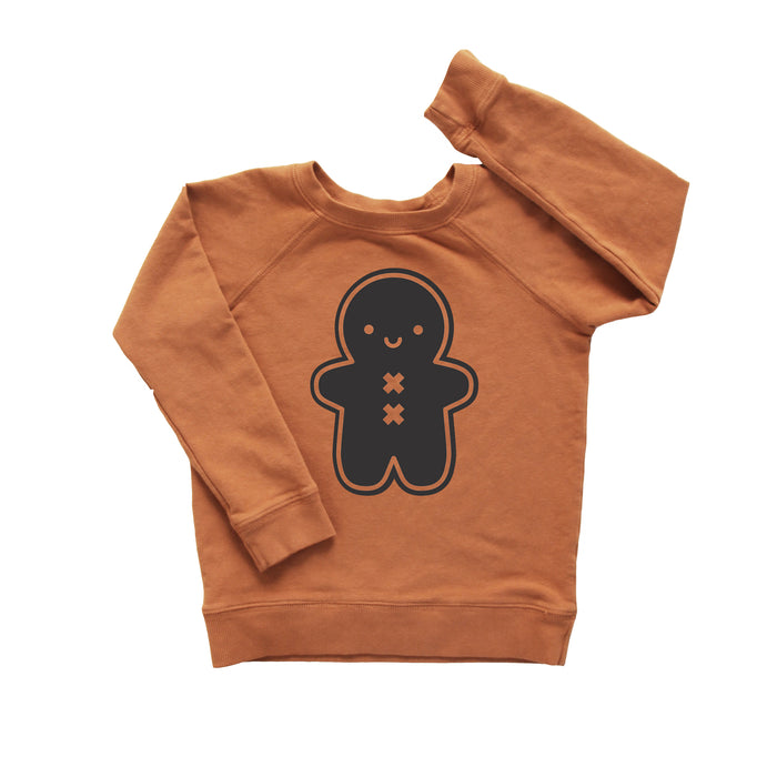 PREORDER Kawaii Gingerbread Man Baby + Kids Sweatshirt