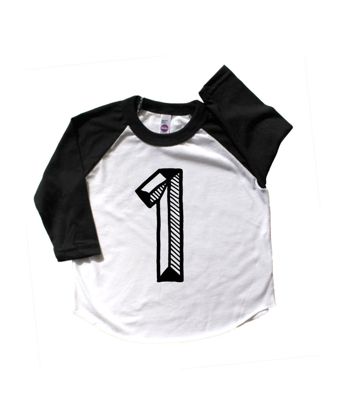 Number One Baseball Tee