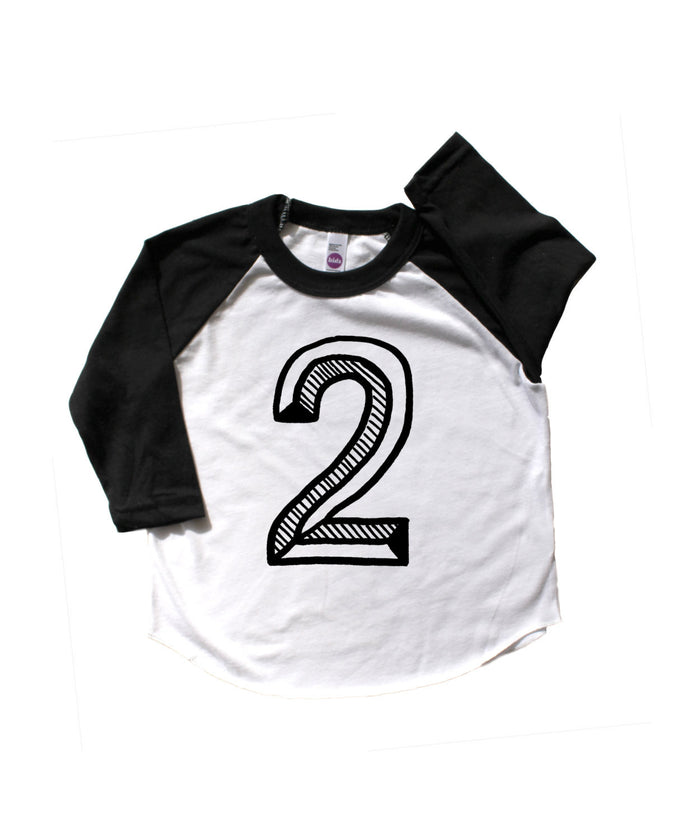 Number Two Baseball Tee