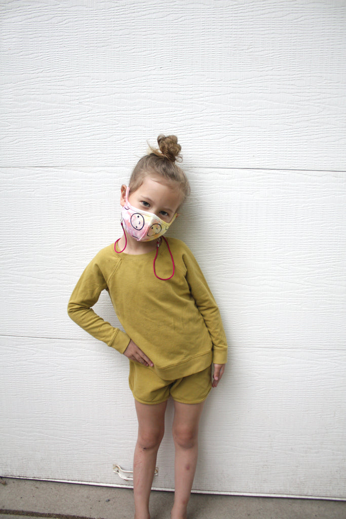 Julia Wester X Mochi Kids Hand-Dyed Happy Mask
