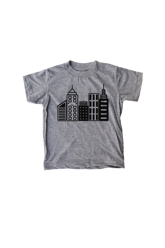 Mochi City Gray Baby + Kids Tee