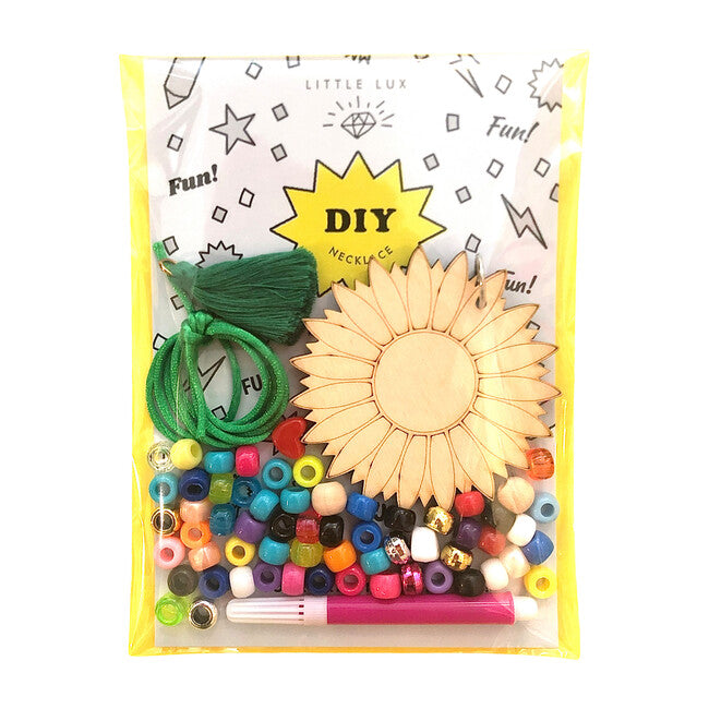 DIY Flower Necklace Kit by Gunner and Lux