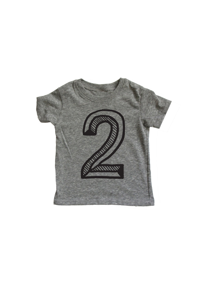Number 2 2nd Second Birthday Kids Tee Shirt Mochi Kids