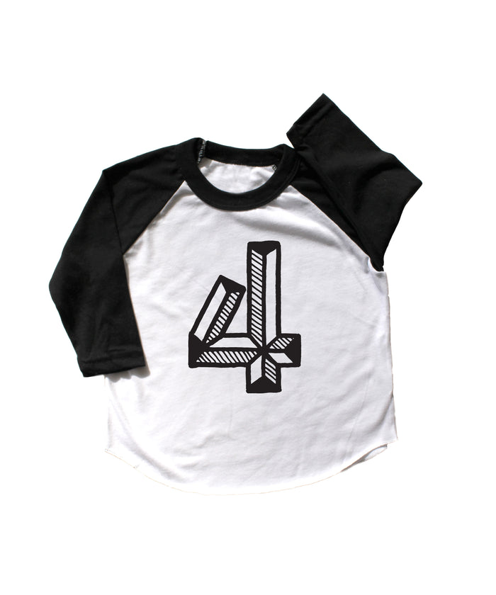 Number Four Baseball Tee
