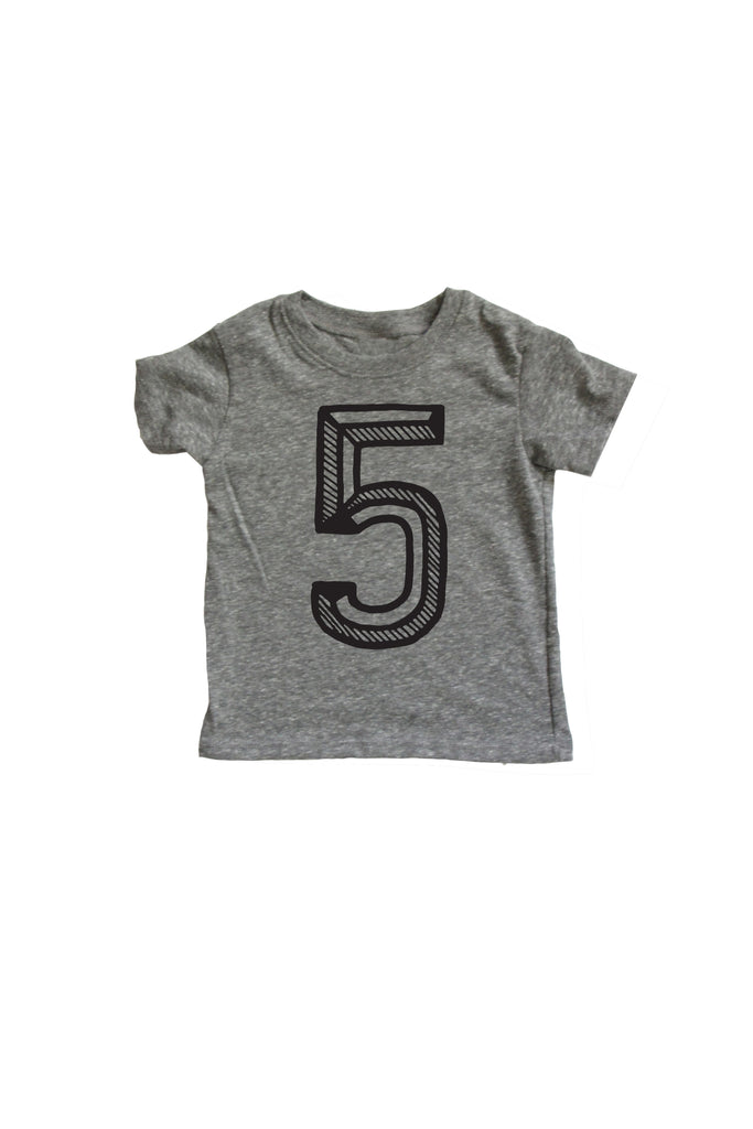 Number 5 Fifth 5th Birthday Kids Shirt