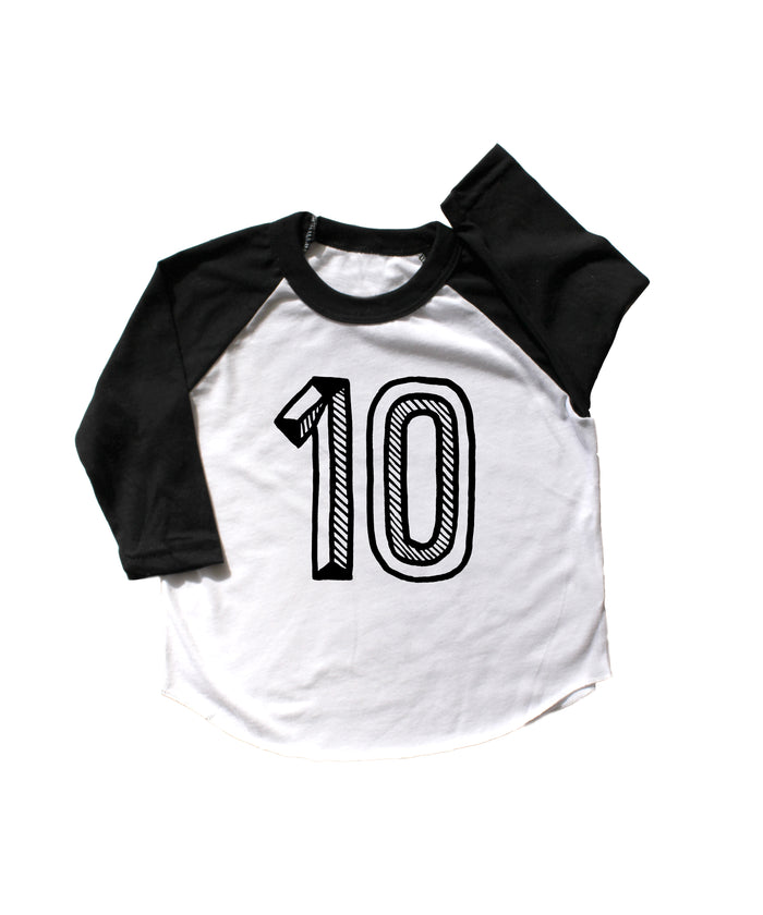 Number Ten Baseball Tee