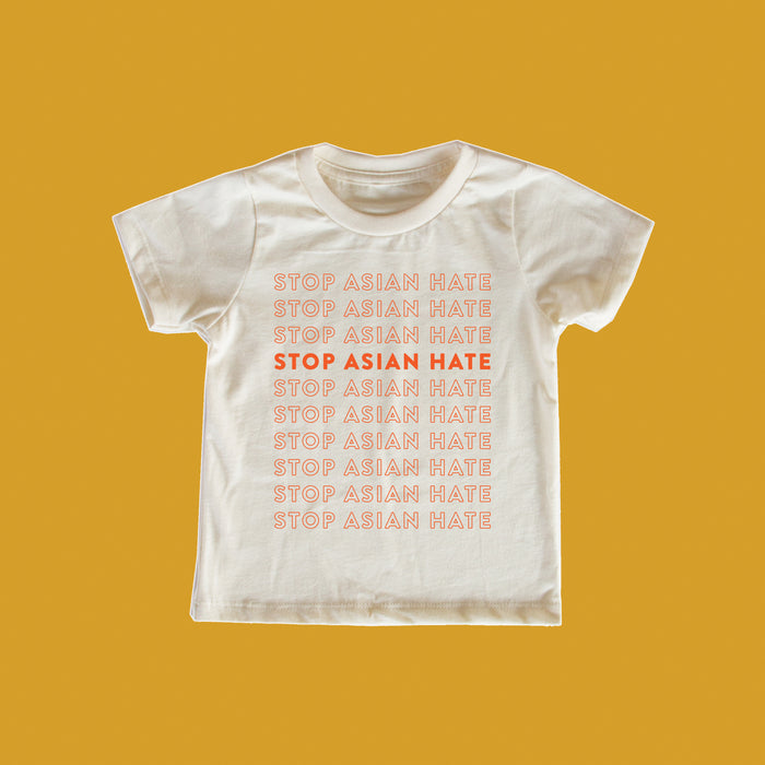 PREORDER Amanda Jane Jones X Mochi Kids Stop Asian Hate Baby + Kid + Adult Tee