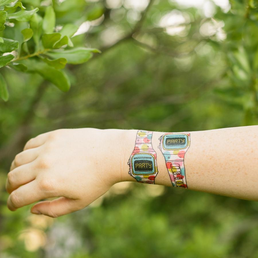 Party Watch Temporary Tattoos by Tattly