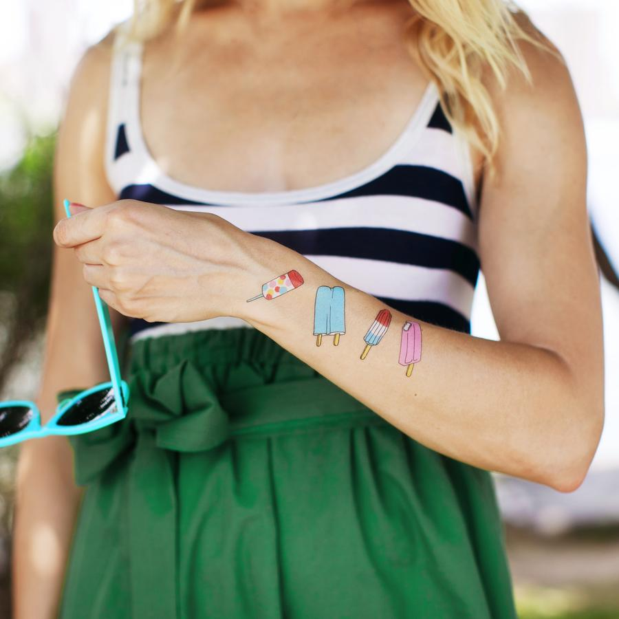 Popsicle Temporary Tattoos by Tattly