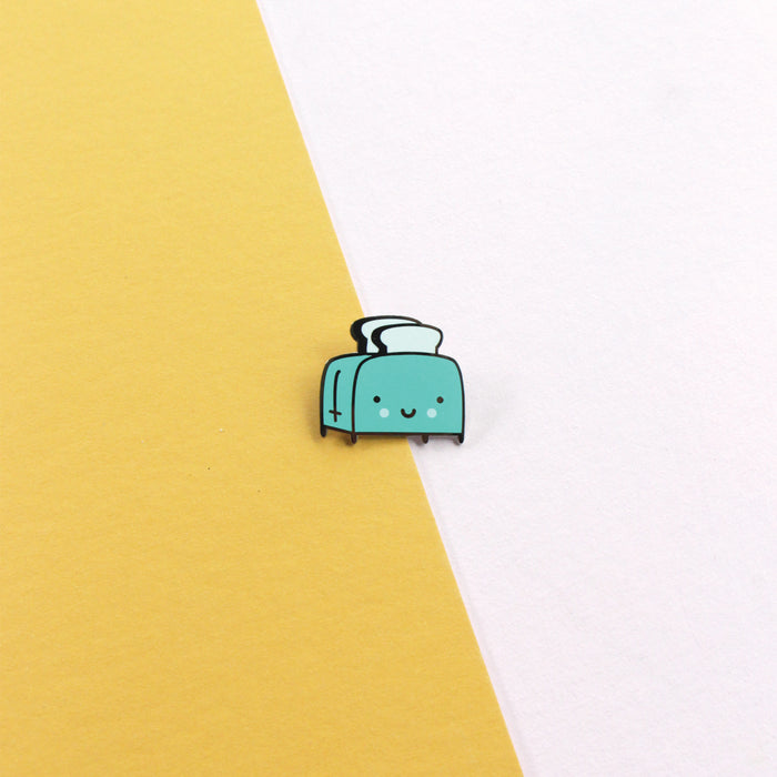 Kawaii Toaster Enamel Pin