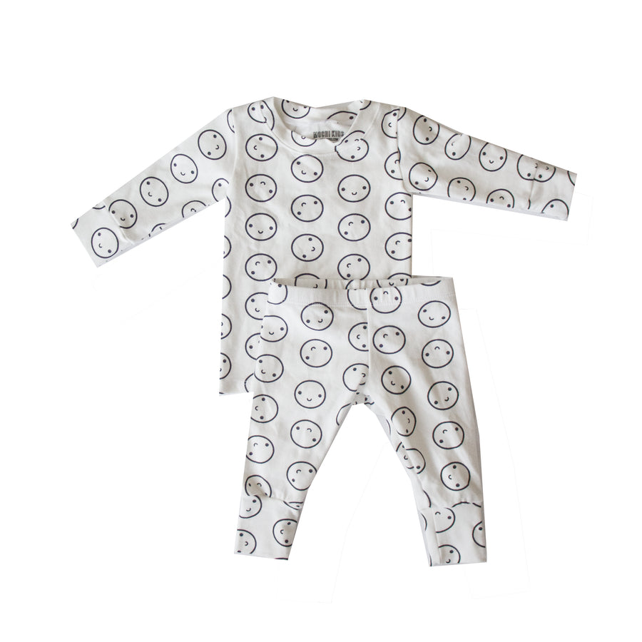 Milk White Smiley Pajamas