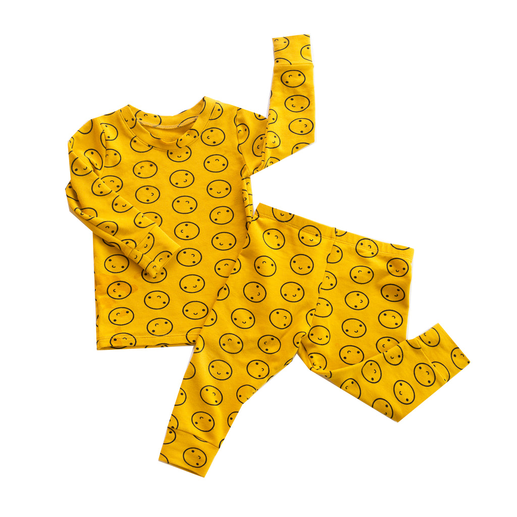 Mustard Smiley Pajamas