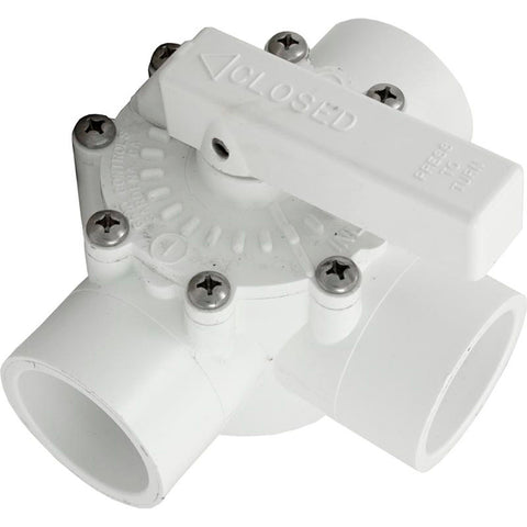 "Grid Controls Diverter Valve [1-1/2"" Slip / 2"" Spigot] [3 Port] (03000)"