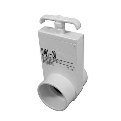 "Magic Plastics UniBody Gate Valve [2"" Slip x 2"" Slip] [80psi] (0401-20)"