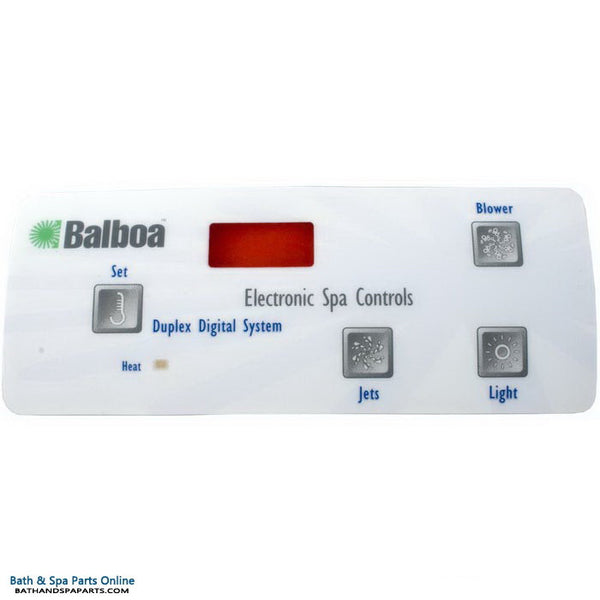 Balboa 4-Button Digital Duplex LCD Topside Panel Overlay (10307)