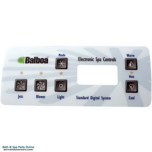 Balboa 6-Button Serial Standard Topside Panel Overlay (10328)