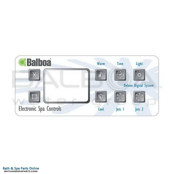 Balboa 8-Button Serial Duplex [2 Pump] Topside Panel Overlay (10389)